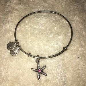 Alex and Ani silver and pink starfish bracelet